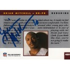 Brian Mitchell autographed Washington Redskins 1993 Pro Line card