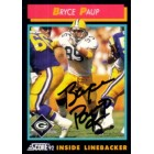 Bryce Paup autographed Green Bay Packers 1992 Score card