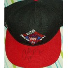 Charles Barkley autographed 1991 NBA All-Star Game cap or hat