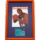 Charles Barkley autograph framed with Phoenix Suns Beckett magazine cover