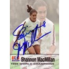 Shannon MacMillan autographed 1999 Women's World Cup Champions card