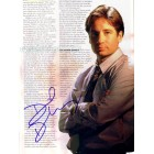 David Duchovny autographed X-Files full page magazine photo