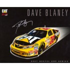 Dave Blaney autographed CAT Racing 8x10 NASCAR photo card