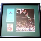 Dee Brown autographed 1991 NBA Slam Dunk photo framed with card & credential