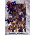Dikembe Mutombo certified autograph Georgetown 1991 Classic card
