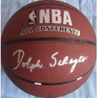 Dolph Schayes autographed NBA indoor/outdoor All-Conference basketball