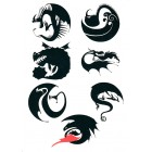 Dragons Defenders of Berk 2014 Wondercon promo sheet of 7 temporary tattoos
