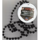 ESPN Monday Night Football logo pendant with bead necklace