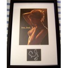 Eva Mendes autograph matted & framed with sexy cleavage photo