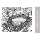 Fenway Park 1990 Waterford Publishing postcard (Eric Hotz artwork)