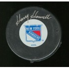 Harry Howell autographed New York Rangers puck