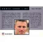 Howie Long 1991 Pro Line National Convention unnumbered promo card MT