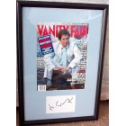 Hugh Grant autograph matted & framed with Vanity Fair magazine cover