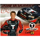 Jamie McMurray autographed NASCAR photo card