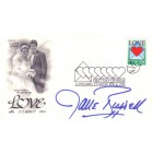 Jane Russell autographed LOVE 1992 First Day Cover cachet envelope