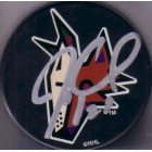 Jeremy Roenick autographed Phoenix Coyotes puck