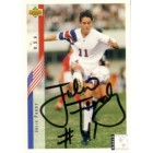 Julie Foudy autographed 1994 Upper Deck U.S. Soccer Rookie Card