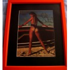 Kathy Ireland autographed Sports Illustrated swimsuit photo matted & framed