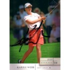 Karrie Webb autographed 2004 SP Signature Golf card
