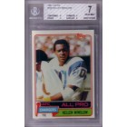 Kellen Winslow San Diego Chargers 1981 Topps Rookie Card RC graded BGS 7 NrMt