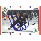 Kevin Stevens autographed Pittsburgh Penguins 1990 Score Rookie Card