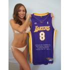 Kobe Bryant autographed Los Angeles Lakers 2001 All-Star UDA Nike jersey #6/108