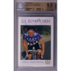 Lance Armstrong 1992 Impel U.S. Olympic Hopefuls Rookie Card graded BGS 9.5 GEM MINT