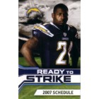 LaDainian Tomlinson San Diego Chargers 2007 pocket schedule