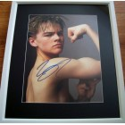 Leonardo DiCaprio autographed vintage photo matted & framed