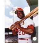 Lou Brock St. Louis Cardinals 8x10 photo (damaged)