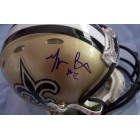 Marques Colston autographed New Orleans Saints Riddell Revolution mini helmet