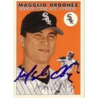Magglio Ordonez autographed Chicago White Sox 2000 Fleer card
