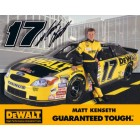 Matt Kenseth autographed 8x10 DeWalt Racing NASCAR photo card