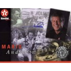 Mario Andretti autographed 8 1/2 x 11 photo card