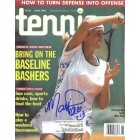 Mary Pierce autographed 1995 Tennis magazine cover
