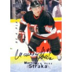 Martin Straka certified autograph 1995 Be A Player card