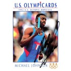 Michael Johnson autographed 1992 Impel U.S. Olympic Hopefuls card