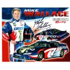 Mike Wallace autographed Geico Racing 8x10 NASCAR photo card