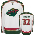 Niklas Backstrom Minnesota Wild authentic Reebok Premier stitched white road jersey