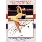 Peggy Fleming autographed U.S. Olympic Hall of Fame card