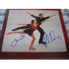 David Pelletier & Jamie Sale autographed 2002 figure skating calendar page