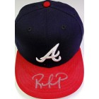Rafael Furcal autographed Atlanta Braves game model cap or hat (Fleer)
