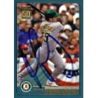 Ramon Hernandez autographed Oakland A's 2001 Topps card