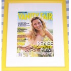 Renee Zellweger autographed Vanity Fair magazine cover matted & framed