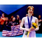 Sarah Hughes autographed ice skating 8x10 photo inscribed 2002 Olympic Gold