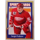 Sergei Fedorov Red Wings 1992 Sports Cards magazine card #119