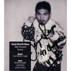 Sergio Reyes autographed 4x4 inch boxing photo card