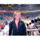 Shawn Johnson autographed 2008 Olympics 8x10 gymnastics photo