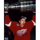 Vyacheslav (Slava) Kozlov autographed Detroit Red Wings 8x10 Stanley Cup celebration photo