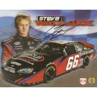 Steve Wallace autographed NASCAR photo card